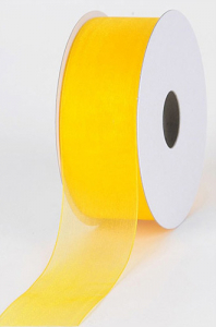 Organza Ribbon , Light Gold, 1/4 Inch x 25 Yards (1 Spool) SALE ITEM