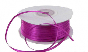 Double Faced Satin Ribbon , Fuchsia, 1/8 Inch x 100 Yards (1 Spool) SALE ITEM