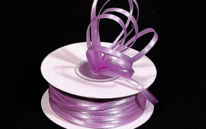 Double Faced Satin Ribbon , Lavender, 1/8 Inch x 100 Yards (1 Spool) SALE ITEM