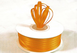 Double Faced Satin Ribbon , Gold Yellow, 1/8 Inch x 100 Yards (1 Spool) SALE ITEM