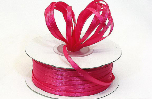 Double Faced Satin Ribbon , Hot Pink, 1/8 Inch x 100 Yards (1 Spool) SALE ITEM