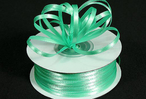 Double Faced Satin Ribbon , Mint, 1/16 Inch x 100 Yards (1 Spool) SALE ITEM