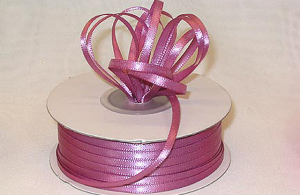 Double Faced Satin Ribbon , Mauve, 1/16 Inch x 100 Yards (1 Spool) SALE ITEM