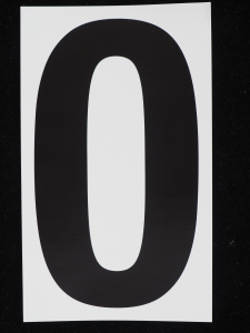 "Number ""0"" - 5 Inch Sticker Decal Vinyl Adhesive Address Numbers Black & White (lot of 1) SALE ITEM - MADE IN USA"