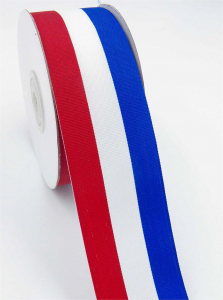 Red/White/Royal Grosgrain 1 ½ x 25 yds., (1 Spool) SALE ITEM