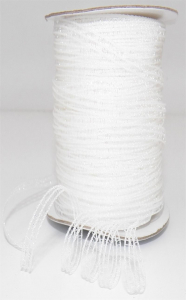 White Iridescence Mesh Ribbon ¼ x 100 yds., (1 spool) SALE ITEM