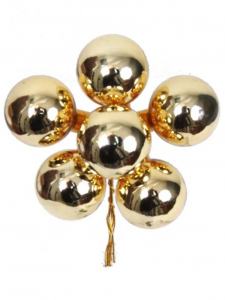 Gold 30MM Glass Balls (Lot of 1 Box - 6  Bunches Per Box) SALE ITEM
