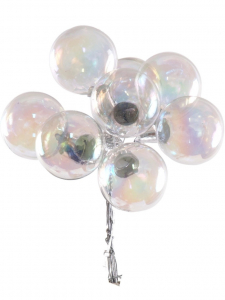 Clear Pearlized 30MM Glass Balls (Lot of 1 Box - 6  Bunches Per Box) SALE ITEM