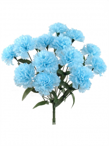 Blue Carnation Bush x 14 Stems (Lot of 1 Bush) SALE ITEM