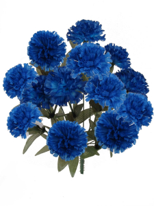 Royal Blue Carnation Bush x 14 Stems (Lot of 1 Bush) SALE ITEM