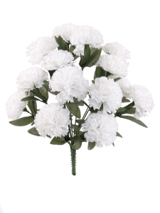 White Carnation Bush x 14 Stems (Lot of 1 Bush) SALE ITEM