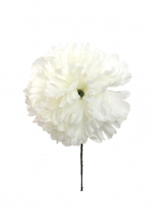 "Cream White Carnation Pick 4.25"" (Lot of 100 Picks) SALE ITEM"
