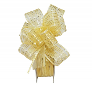 "Pull Bow Ribbon, Maize / Gold, 1"" x 25 Yards (1 Spool) SALE ITEM"