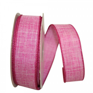 Linen Life Wired Edge Ribbon, Fuchsia Pink, 1-1/2 Inch, (25 Yards) SALE ITEM