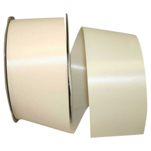 Ivory, Embossed, Polypropylene, Florentine Ribbon 2 ½ Inch x 100 yds., (1 Spool) SALE ITEM