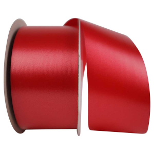 Medium Red, Embossed, Polypropylene, Florentine Ribbon 2 ½ Inch x 100 yds., (1 Spool) SALE ITEM