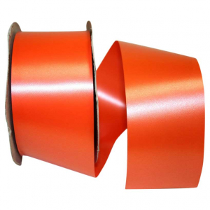 Orange, Embossed, Polypropylene, Florentine Ribbon 2 ¾ Inch x 100 yds., (1 Spool) SALE ITEM