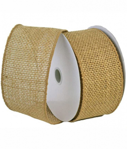 Natural Blended Burlap Ribbon w/ Wired Edge 2.5 Inches (25 Yards per Spool) SALE ITEM
