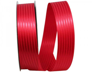 1-3/8 Inch Red Tuxedo Striped Satin Christmas Ribbon (100 Yards) SALE ITEM