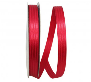 5/8 Inch Red Tuxedo Striped Satin Christmas Ribbon (100 Yards) SALE ITEM