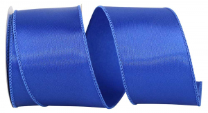 Wired Satin Ribbon - Royal Blue, 2-1/2 Inch x 10 yds., (1 Spool) SALE ITEM