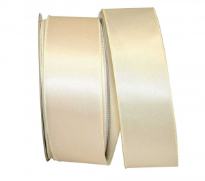 Wired Satin Ribbon - Ivory, 2-1/2 Inch x 10 yds., (1 Spool) SALE ITEM