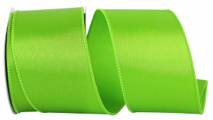 Wired Satin Ribbon - Citrus Lime Green, 2-1/2 Inch x 10 yds., (1 Spool) SALE ITEM