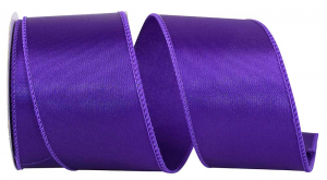 Wired Satin Ribbon - Purple, 2-1/2 Inch x 10 yds., (1 Spool) SALE ITEM