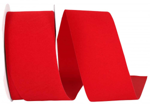 Outdoor Red Velvet Allure Ribbon, 2.5 inch (25 yards/spool) SALE ITEM