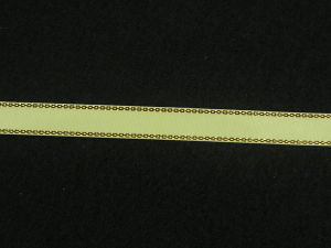 Double Face Satin Ribbon With Gold Edge, Yellow, 1/4 Inch x 50 Yards (1 Spool) SALE ITEM