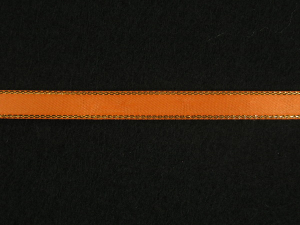 Double Face Satin Ribbon With Gold Edge, Orange, 1/4 Inch x 50 Yards (1 Spool) SALE ITEM