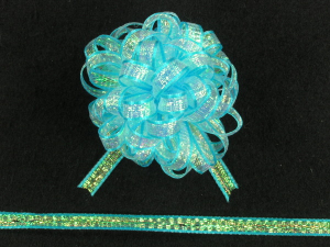 Pull Bow Ribbon , Turquoise, 1/4 Inch x 50 Yards (1 Spool) SALE ITEM
