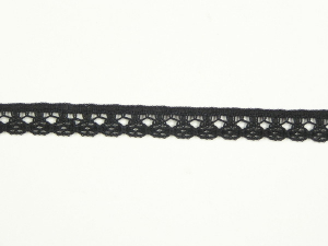 .5 inch Flat Lace, black (100 yards) 2971 Black MADE IN USA