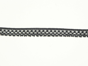 .375 inch Flat Lace, black (100 yards)