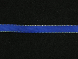 Double Face Satin Ribbon With Gold Edge, Royal Blue, 3/8 Inch x 50 Yards (1 Spool) SALE ITEM