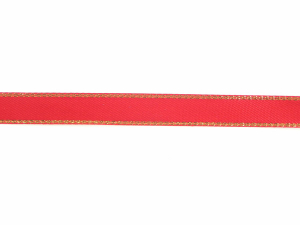 Double Face Satin Ribbon With Gold Edge, Red, 3/8 Inch x 50 Yards (1 Spool) SALE ITEM