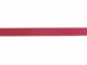 Double Face Satin Ribbon With Gold Edge, Wine, 3/8 Inch x 50 Yards (1 Spool) SALE ITEM