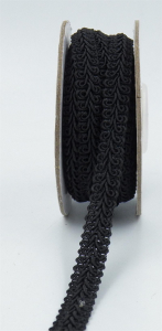 GIMP BRAID TRIM, Black, 3/8 Inch x 10 Yards (1 Spool) SALE ITEM