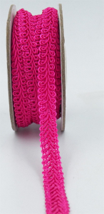 GIMP BRAID TRIM, Hot Pink, 3/8 Inch x 10 Yards (1 Spool) SALE ITEM