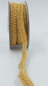 GIMP BRAID TRIM, Old Gold, 3/8 Inch x 10 Yards (1 Spool) SALE ITEM