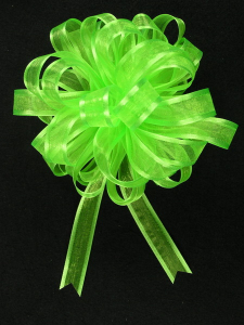 Pull A Bow Ribbon , Apple Green, 5/8 Inch x 25 Yards (1 Spool) SALE ITEM
