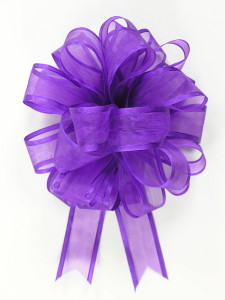 Pull A Bow Ribbon , Purple, 7/8 Inch x 25 Yards (1 Spool) SALE ITEM