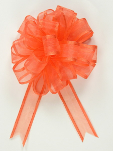 Pull A Bow Ribbon , Orange, 7/8 Inch x 25 Yards (1 Spool) SALE ITEM